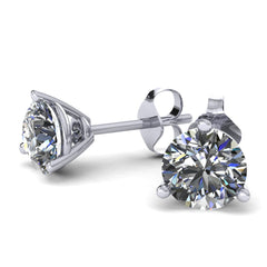 Forever One Moissanite Stud Earrings (3 prongs) - Moissanite Rings