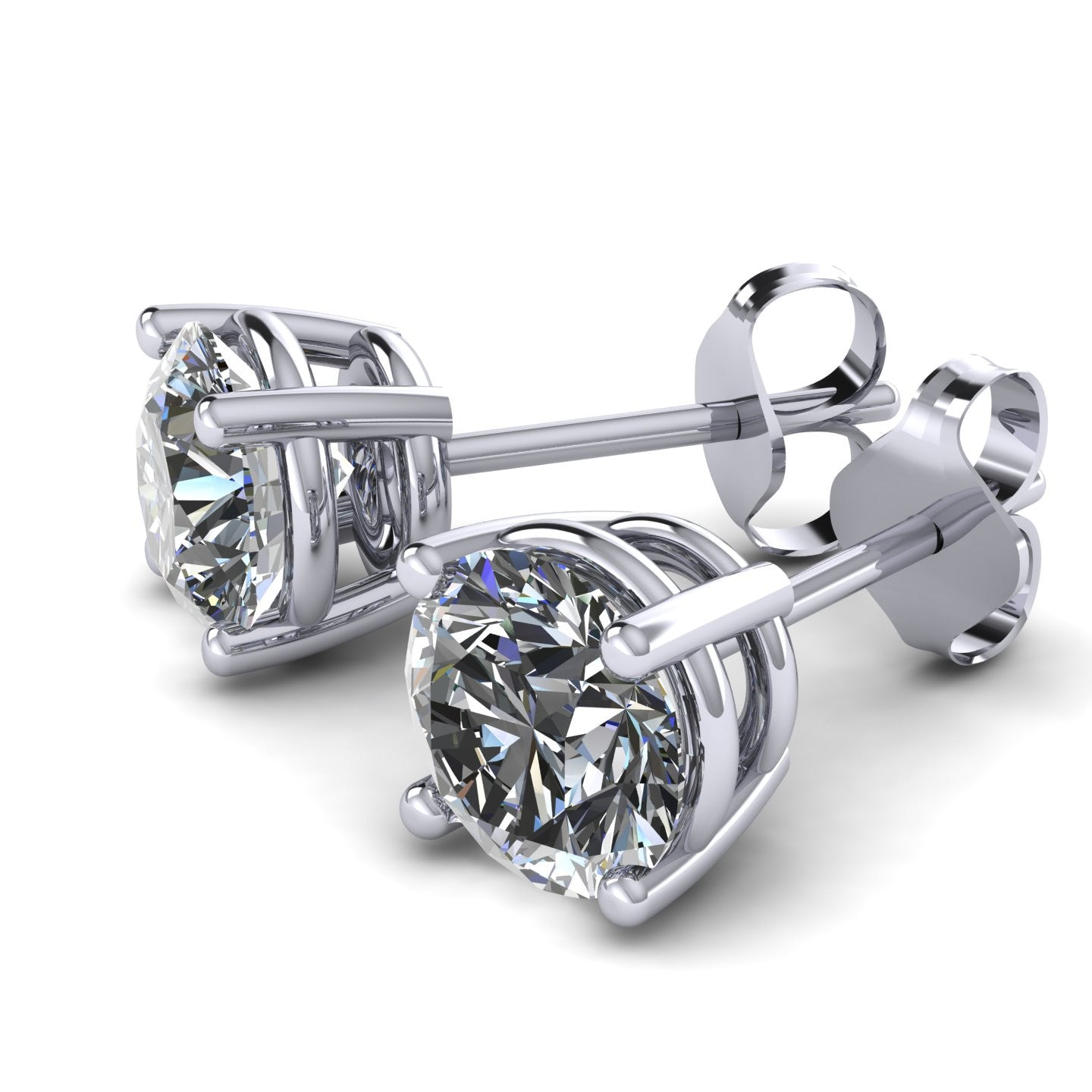 moissanite colvard com amazon jewelry one by earrings forever round dp stud charles dew