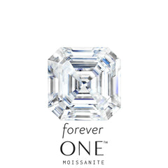 Loose Asscher Cut Forever One Moissanite - Moissanite Rings