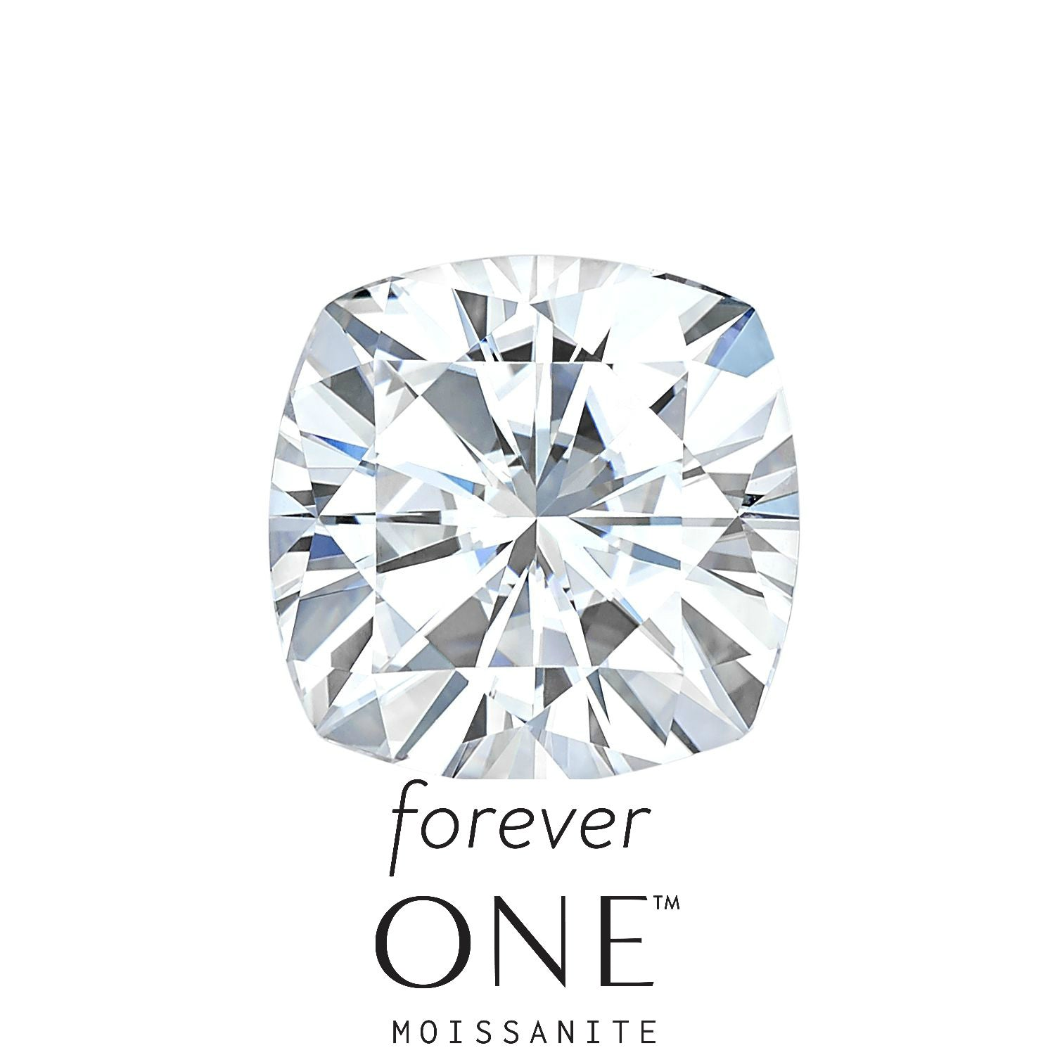 Forever One Cushion Cut Loose Moissanite - Moissanite Rings
