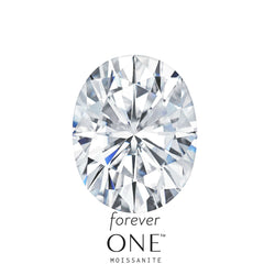 Loose Forever One Oval Moissanite Stone - Moissanite Rings