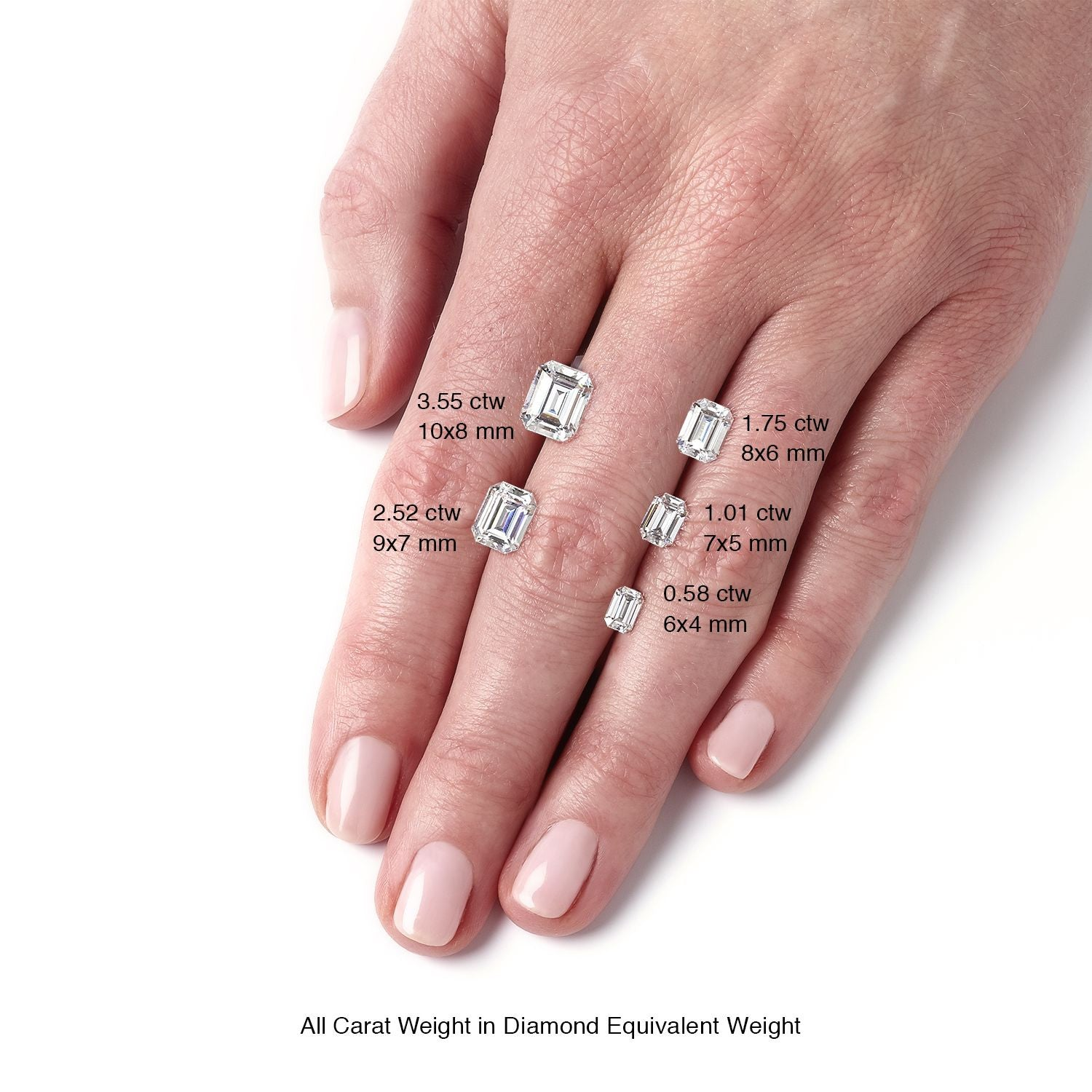 Forever One Emerald Cut Loose Moissanite - Moissanite Rings