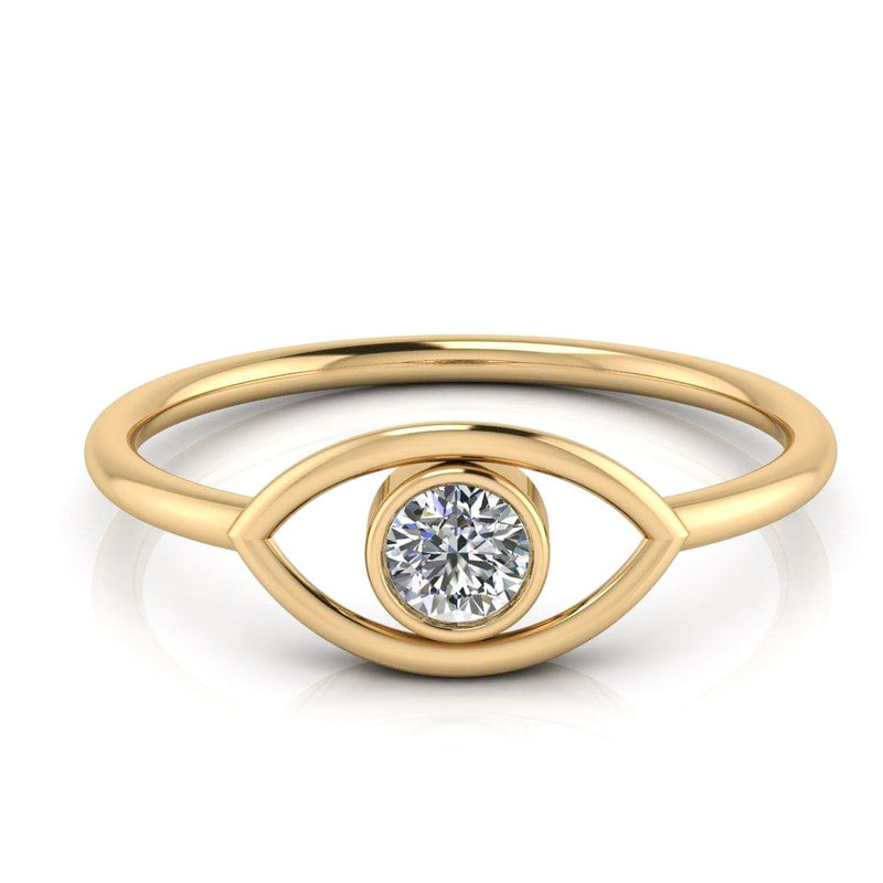 Evil Eye Cut-Out Ring