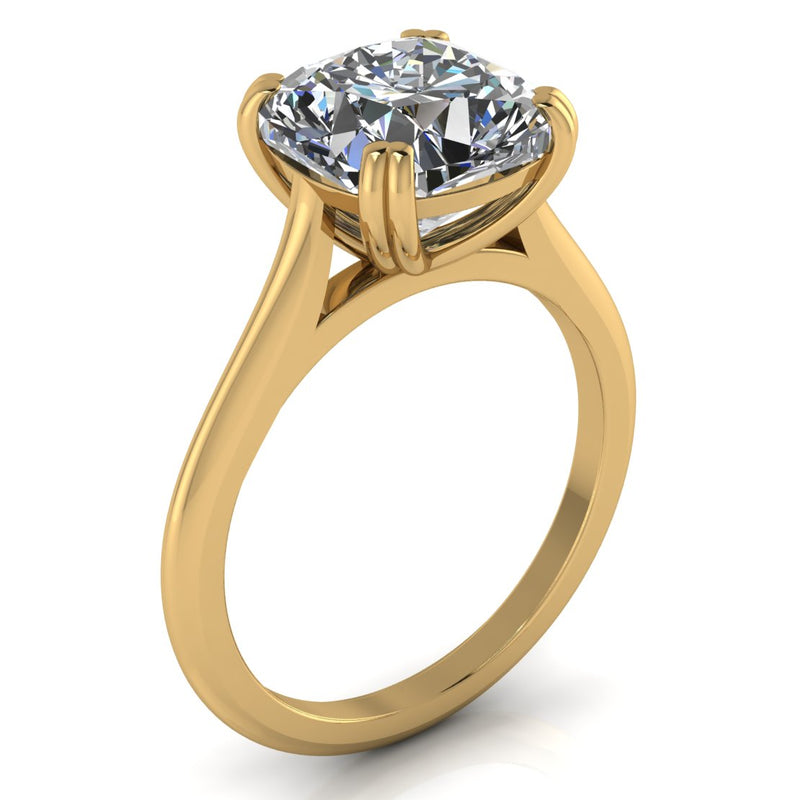 Cushion Cut Moissanite Engagement Ring - Kumi - Moissanite Rings