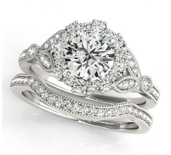 Two Lilly Wedding Bands - Moissanite Rings