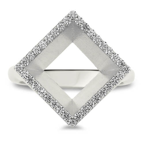 Geometric Diamond Ring - Moissanite Rings