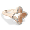 Three Dimensional Diamond North Star Ring