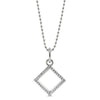 Geometric Diamond Necklace - Moissanite Rings