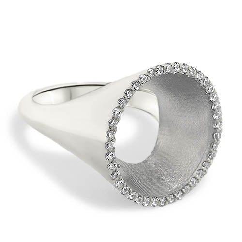 3 Dimensional Circle of Diamonds Ring - Moissanite Rings