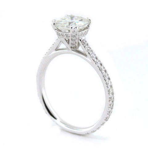 Cushion Cut Moissanite Engagement Ring - Vienna - Moissanite Rings