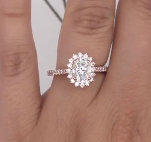Final Payment for Production Moissanite Center Diamond Setting Engagement Ring and Wedding Band - OC - Moissanite Rings