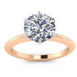 2 Ct. Knife Edge Solitaire Engagement Ring - Tiff - Moissanite Rings