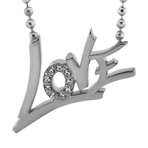 Love Necklace Beaded Chain - Moissanite Rings