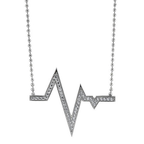 Diamond Heartbeat Necklace - Moissanite Rings