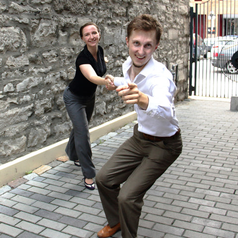 Travis Matte and Laura Smith from Side Street Swing Ottawa dancing.