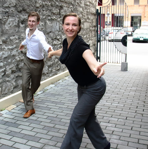 Laura Smith and Travis Matte dancing at Side Street Swing Ottawa