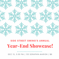 Year-End Showcase!  Dec. 15, 2019, 3:30 pm