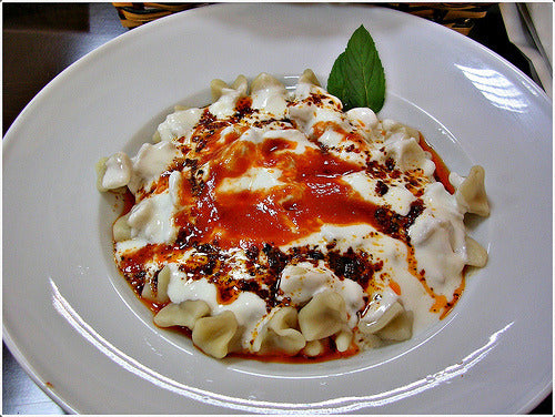 Delicious tiny Turkish Manti, handmade for you!