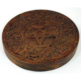 Altar Tile Pentagram Wood 6""