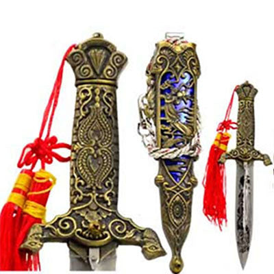 Athame Eastern Dragon with Braided Red Tassel