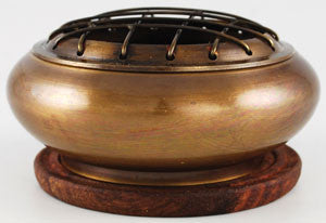 Brass Screen incense burner with Coaster