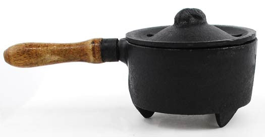 Cast Iron Burner w/ Wooden Handle