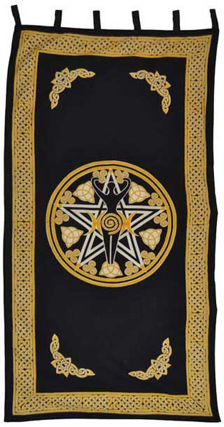 Goddess Curtain With Pentagram