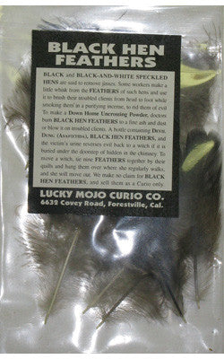 LMC Black Hen Feathers