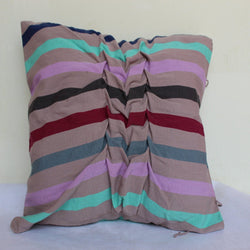LUCHBIL DRAPED STRIPED PILLOW COVER