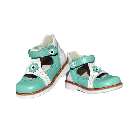 Closed Sandals Woopy SS12579-224 Green Girl Arch and Ankle Support Baby Plus Australia