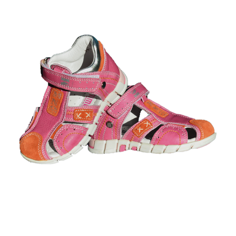 European Leather Orthopaedic Closed Sandals Minimen 730-13-4A Pink Girl