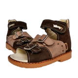 Sandals Woopy 003 Brown Boy Arch and Ankle Support Baby Plus Australia Fancy View