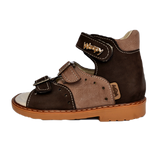 Sandals Woopy 003 Brown Boy Arch and Ankle Support Baby Plus Australia Side View