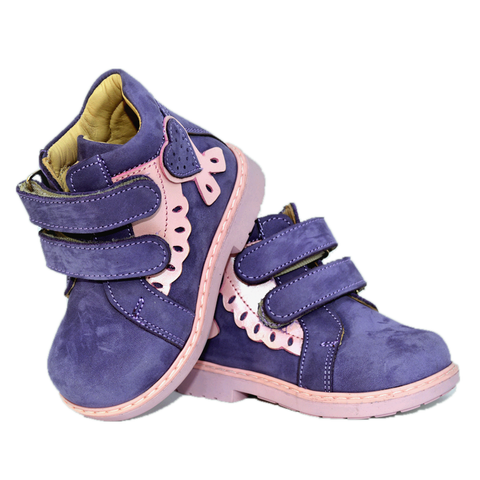 Boots Woopy 1714 Lilac-Pink Girl Arch and Ankle Support Baby Plus Australia
