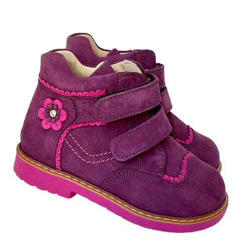 Boots Woopy Cherry-Pink Girl Arch and Ankle Support Baby Plus Australia