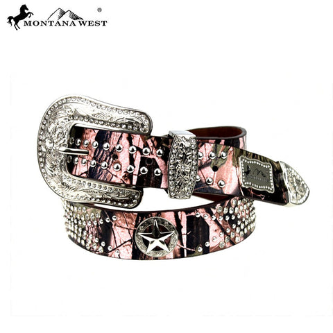 Montana West Camo Texas Pride Collection Belt