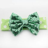 Polka Dot Sequin Bow Headband