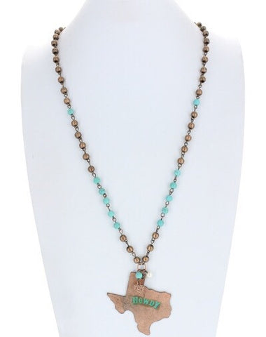 Howdy Texas Necklace