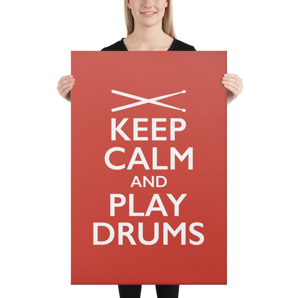 Keep Calm And Play Drums Wall Art