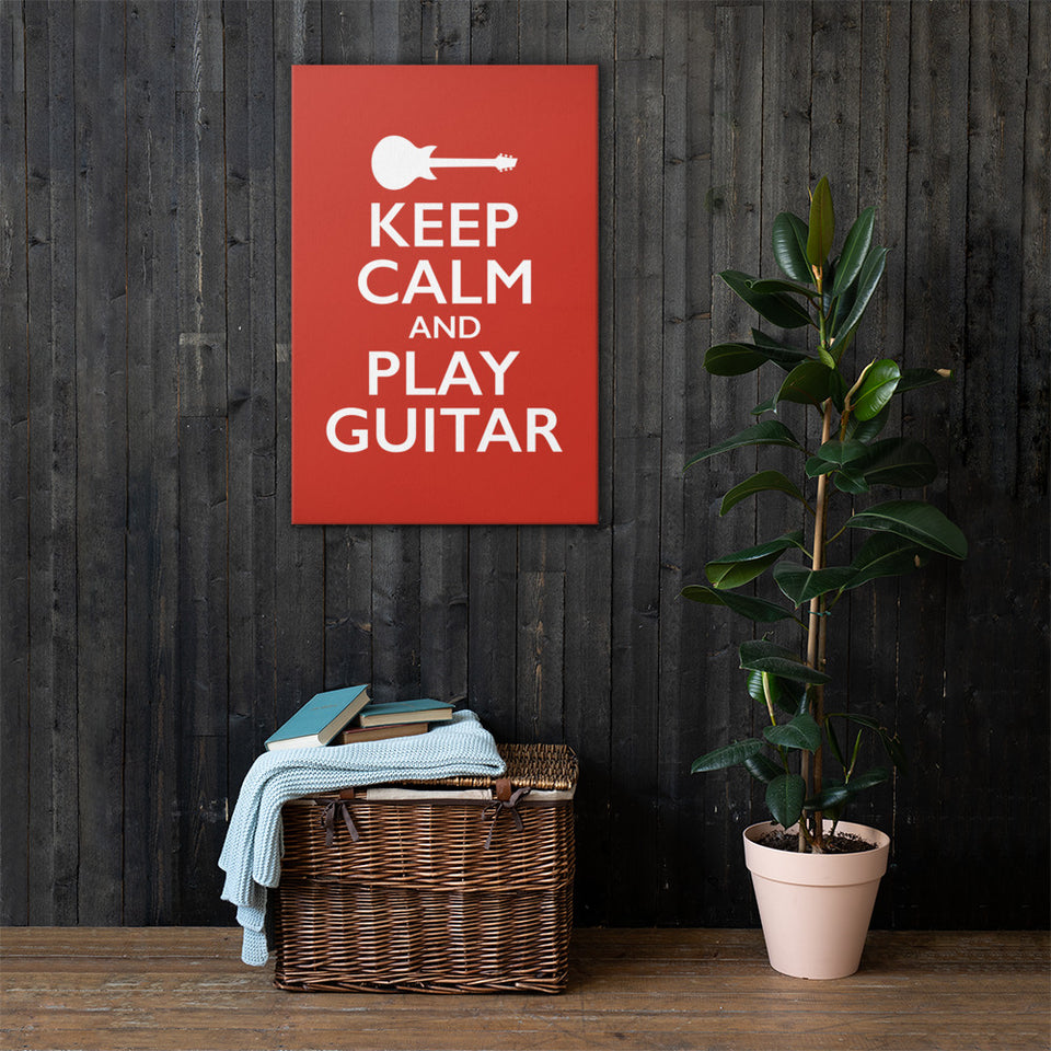 Keep Calm And Play Guitar Wall Art