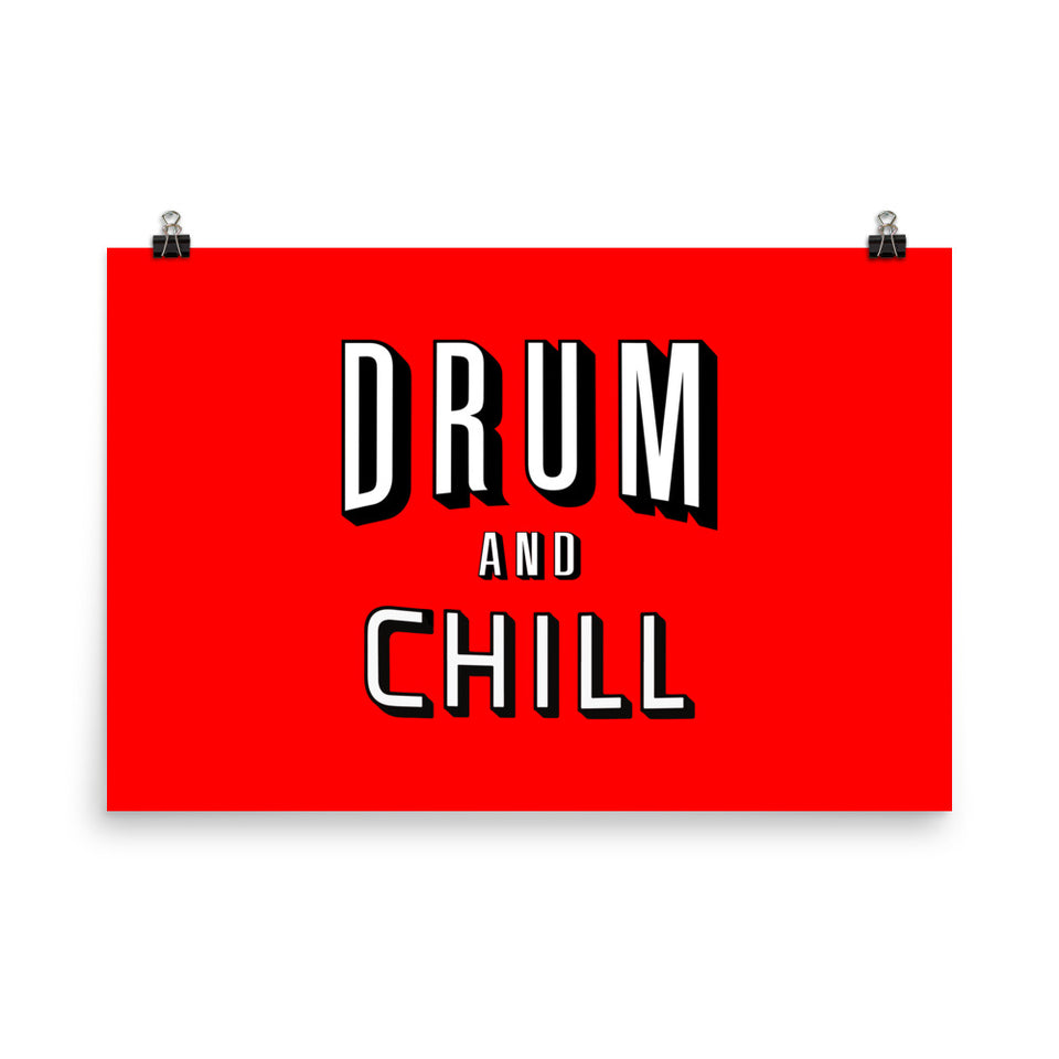 Drum And Chill Wall Art