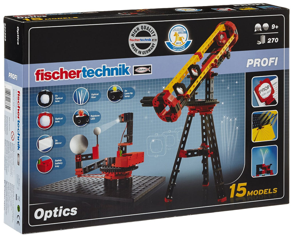 Fischertechnik Optics Experiment Kit with Light, 300-Piece