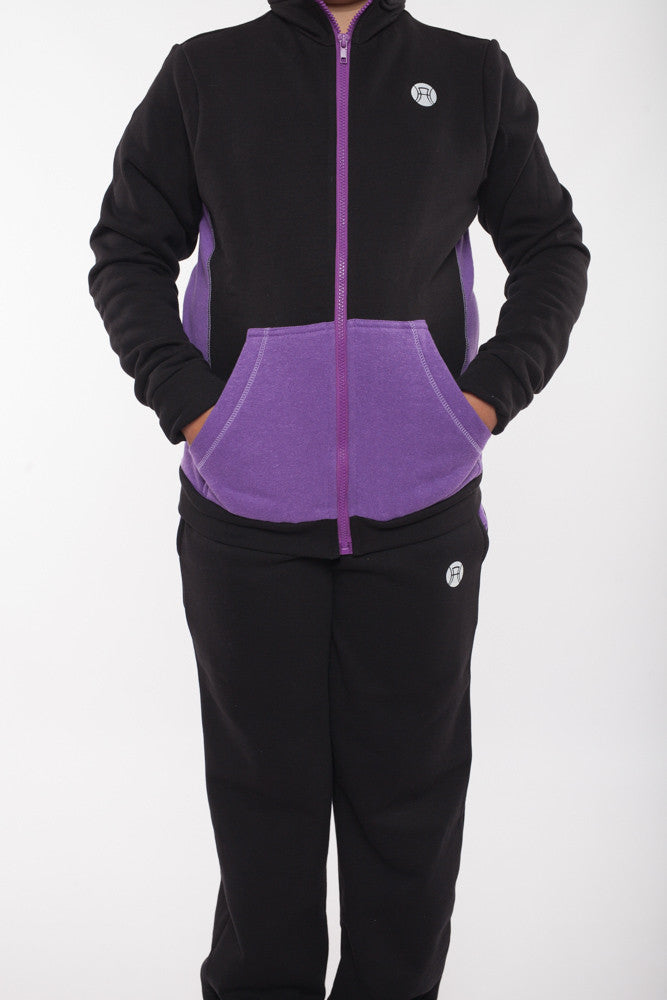 Tracksuit pants with zips, tennis pants, girls tennis trackpants, sports trackpants, zips at feet