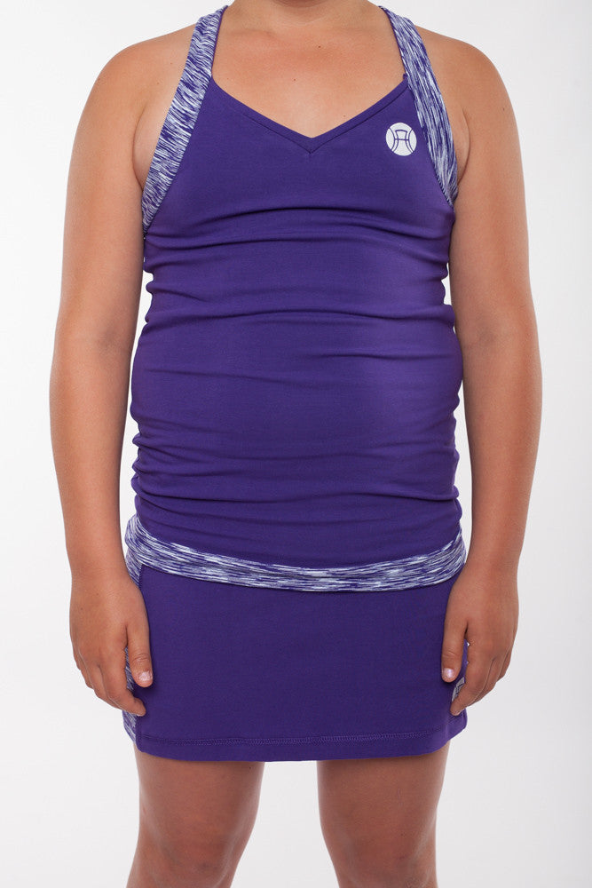 Girls sports top with crossover straps, girls tennis top, tennis top, girls sports top, girls activewear