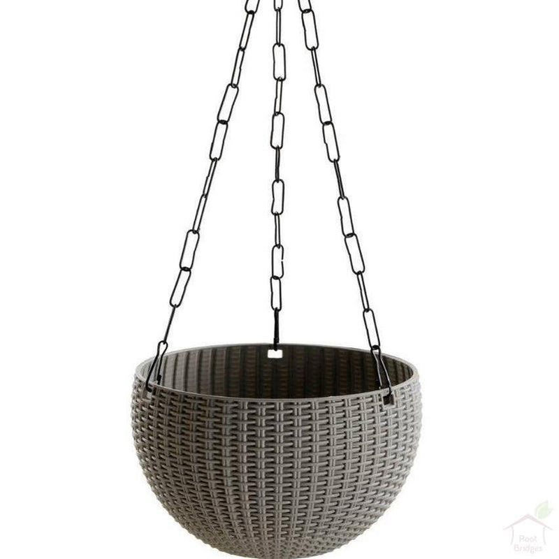 "6"" Weave Hanging Basket Pot-Pots-Root Bridges"