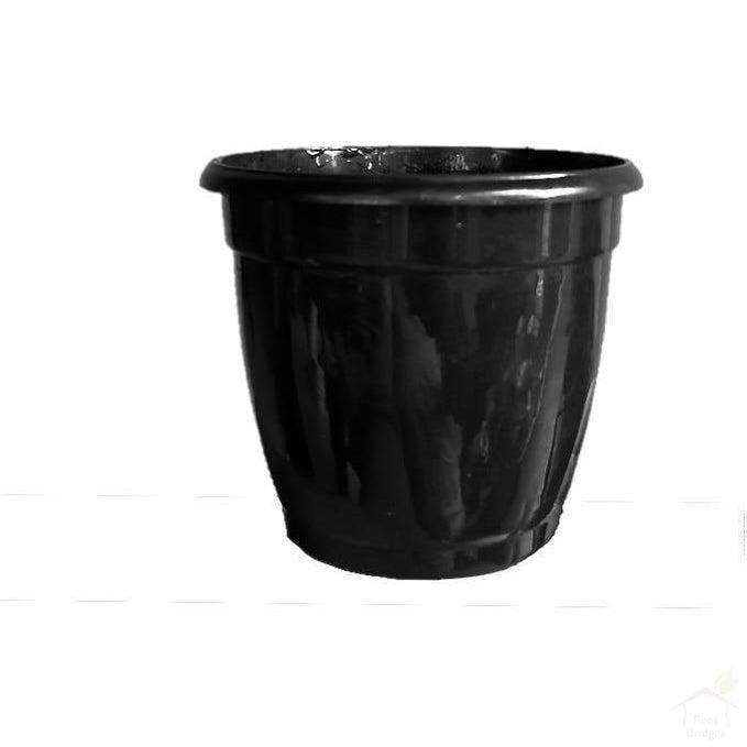 "Pots Black 4.7"" Round Hermes Pot (Pack of 10)"