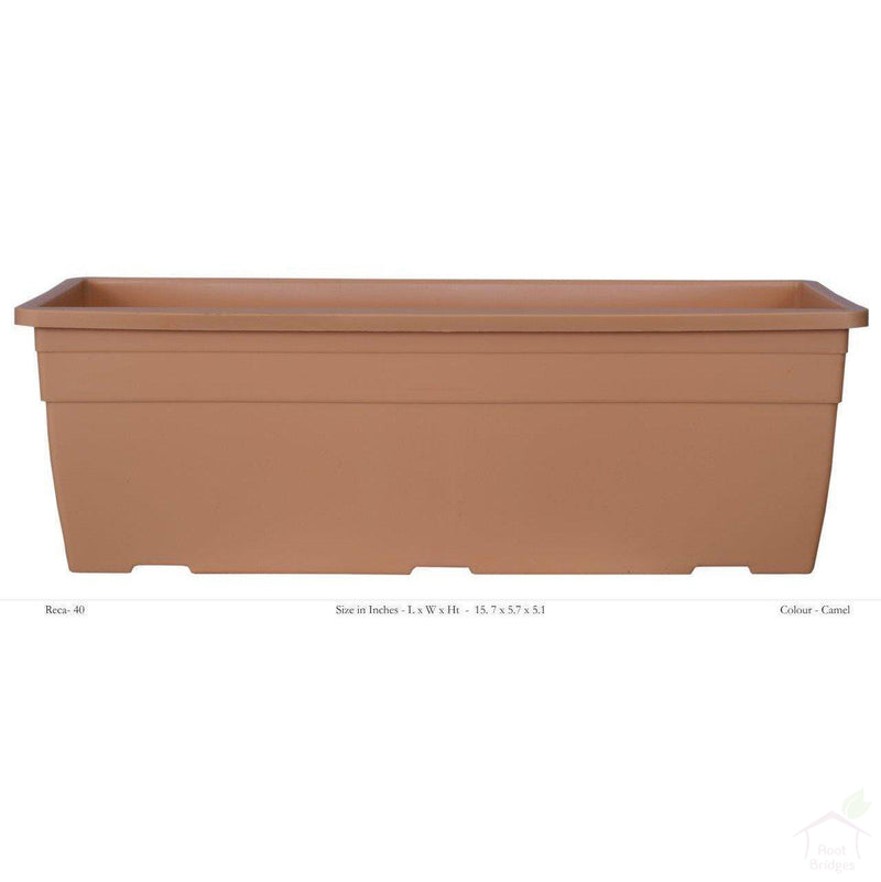 "Pots Camel 15.7"" Rectangular Container Pot"
