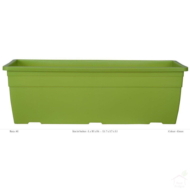 "Pots Green 15.7"" Rectangular Container Pot"