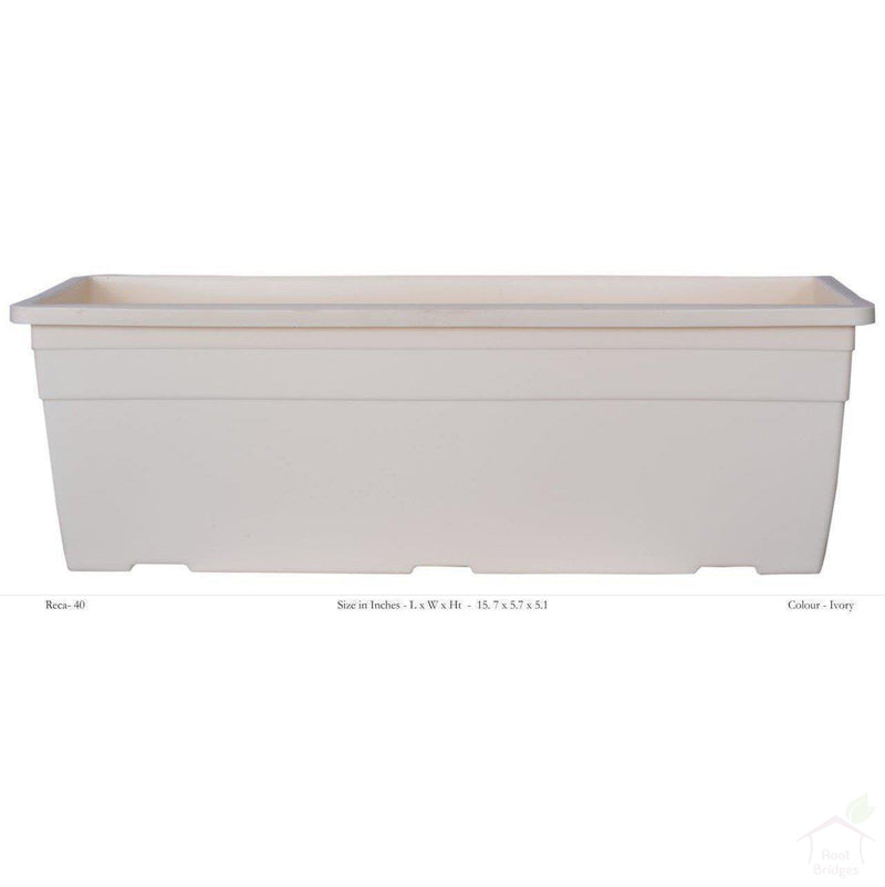 "Pots Ivory 15.7"" Rectangular Container Pot"