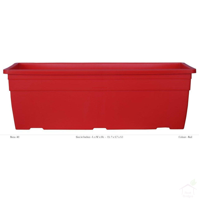"Pots Red 15.7"" Rectangular Container Pot"